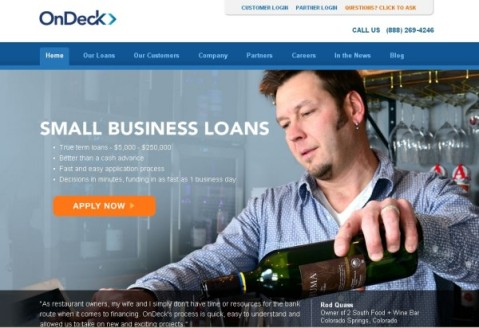 Ondeck small business loan
